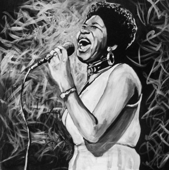 Aretha Franklin painting