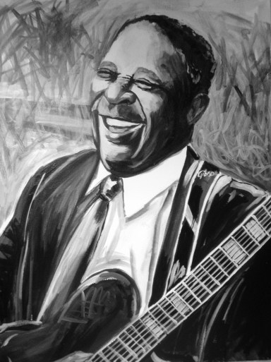 BB King Painted Portrait