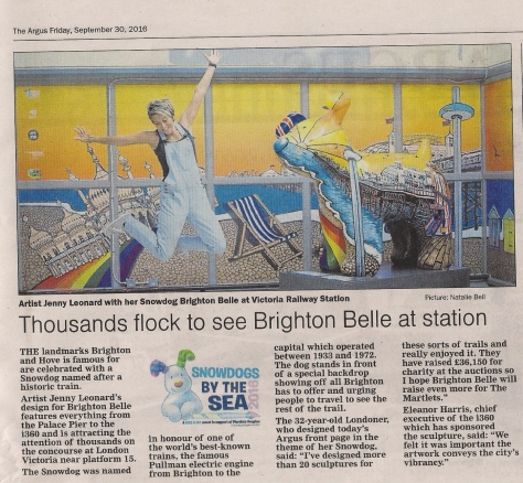 Brighton Snowdogs in the Argus