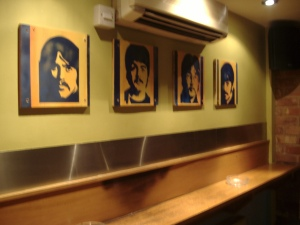 The Beatles Portraits, Spray Painted stencils
