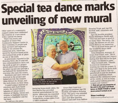 Age Norfok Mural Project Evening news