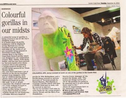 Jungle Gorilla for GoGoGorillas Norwich