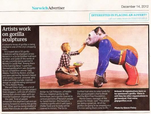 GoGo Gorillas Norwich Newspaper