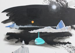 Jenny Leonard. The Place. 2011. Acrylic and collage on board. 50 x 70cm (3)