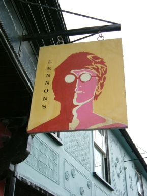 Lennons Bar Sign painting
