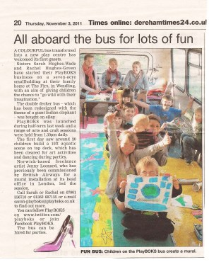 Mural Workshops in Norfolk Paper