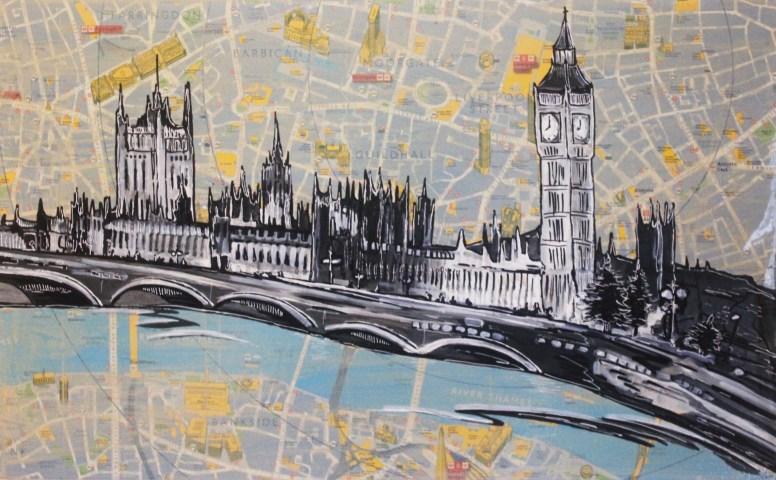 Big Ben Landscape. Jenny Leonard 34 x 55cm