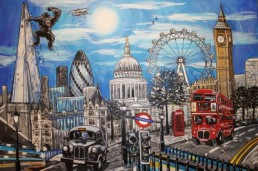 London Landscape with King Kong! Commissioned Final piece