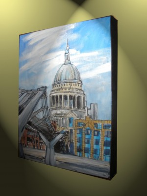st pauls and cityscape london painting