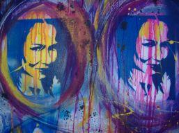 Street art canvas - stencilled