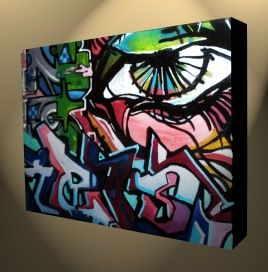 Mini Graffiti sample layer onto acrylic sheets available for commission