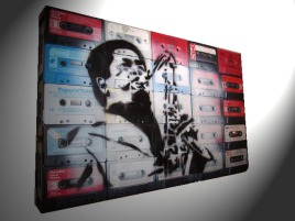 Art on cassette tapes Jazz Player