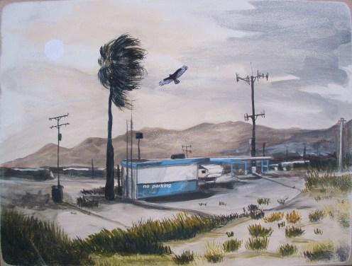 The Alternative Oasis, Desert landscape painting