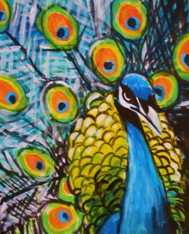 street art peacock
