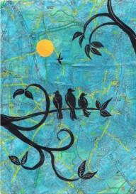 3 birds painting