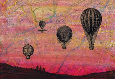 hot air balloon painting