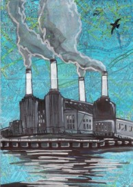 battersea power station painting