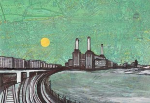 battersea powerstation painting