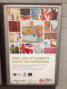 London bus tube poster