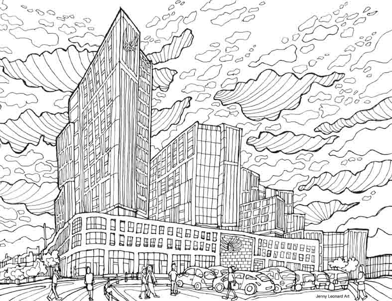Architectural Mindful Colouring Book Commission