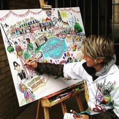 Bermondsey Street Festival Live art.