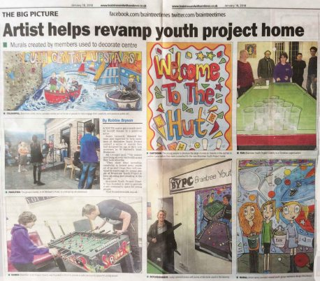 Braintree Essex Artist Newspaper clip Jenny Leonard