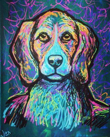 Dog portrature Jenny Leonard