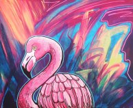 Flamingo 1 40 x 50cm small