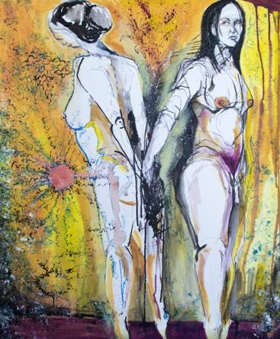 Merging Inks Jenny Leonard Painting