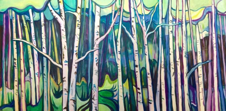 Trees painting Jenny Leonard