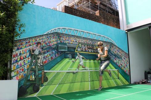 Wimbledon Mural jenny Leonard