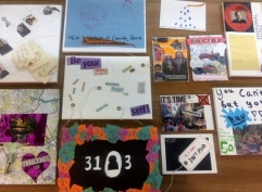 Students art work from workshop